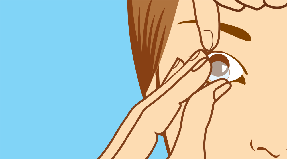 Removing your contact lenses